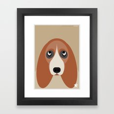 Basset Framed Art Print