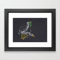 Rodrigues Night Herons Framed Art Print