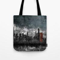 Dark Blue Tote Bag