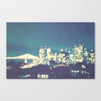 San Francisco Twinkle Canvas Print