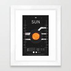 OMG SPACE: Sun 1960 - 2010 Framed Art Print