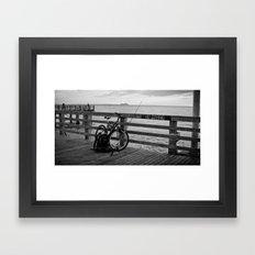Coney Island Boardwalk  Framed Art Print