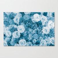 Bouquet Ver.bluegreen Canvas Print