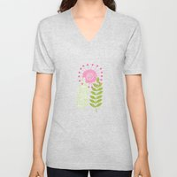 Golden Thyme and Silver Mint Unisex V-Neck