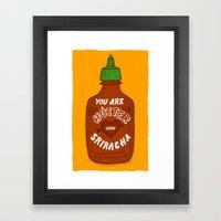 Sriracha Valentine Framed Art Print