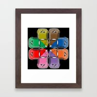 Beetle Collide-a-scope Framed Art Print
