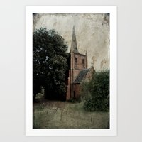 Anglican Church Carcoar Art Print