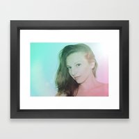 Blond Framed Art Print