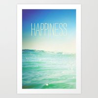 Beachy Happiness Art Print