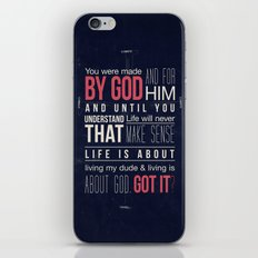 Living is about God iPhone & iPod Skin