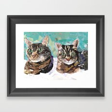 Chester and Mittens Framed Art Print