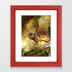 Undead Dragon Framed Art Print