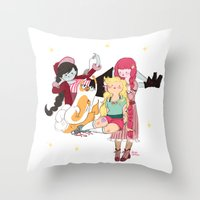 Braids Time Throw Pillow
