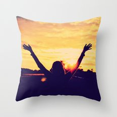 I Can't Lift My Hands High Enough ANALOG ZINE Throw Pillow