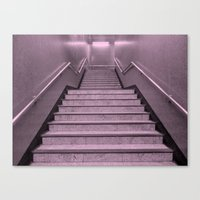 Tube Stairs Canvas Print
