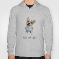 Corgi  hugs and kisses Hoody