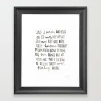 Juno's Dad Knows Best Framed Art Print