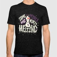 Worth Melting For Mens Fitted Tee Tri-Black SMALL