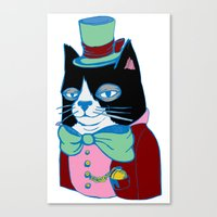 Dignified Cat Does Paste… Canvas Print