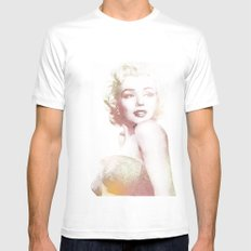Monroe Mens Fitted Tee White SMALL