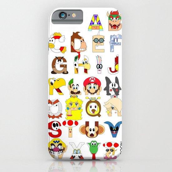 Super Mario Alphabet iPhone & iPod Case