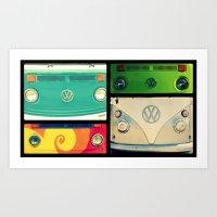 VW Collage Art Print