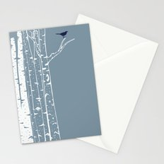 Birch Trees with Bird Stationery Cards