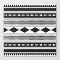 Black Aztec Pattern Canvas Print