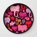 Elephant india parade Wall Clock