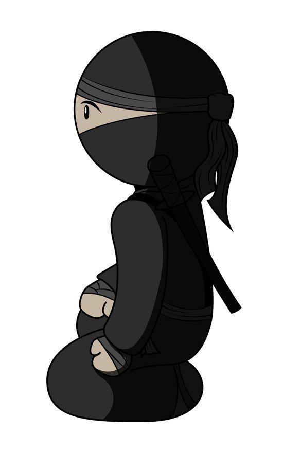 Ninja Crouch Art Print