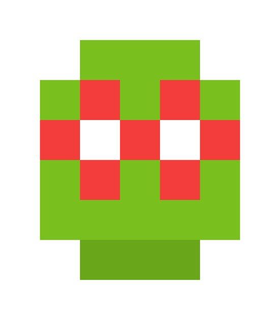 hero pixel green red Art Print