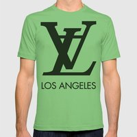 LA los angeles Mens Fitted Tee Grass SMALL