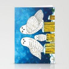 Noah's Ark - Snowy Owl Stationery Cards