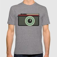 Retro Camera Mens Fitted Tee Tri-Grey SMALL