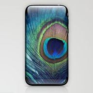 iPhone & iPod Skin featuring Peacock Feather by KunstFabrik_StaticMo…