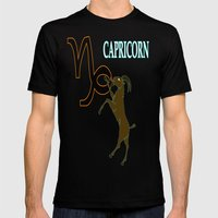 Capricorn Mens Fitted Tee Black SMALL