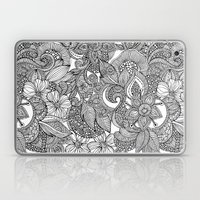 Flowers and doodles Laptop & iPad Skin