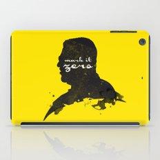 Mark it Zero –Walter Sobchak Silhouette Quote iPad Case