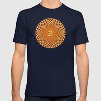Lotus / Namaste  Mens Fitted Tee Navy SMALL