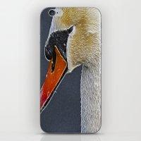 Fractalius Swan iPhone & iPod Skin