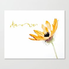 Flower Amore Canvas Print