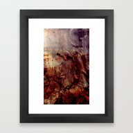 Framed Art Print featuring Surface Of Mars - Abstra… by OrangeOliveNYC