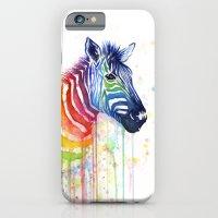 Zebra Rainbow Watercolor iPhone 6 Slim Case