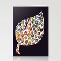 Leafy Palette Stationery Cards