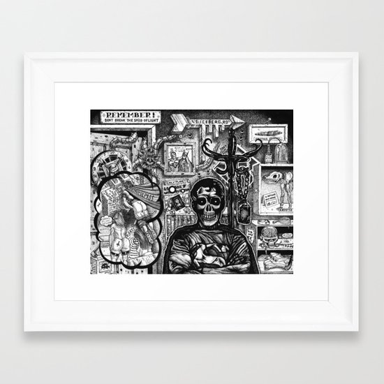 Superdead Framed Art Print