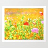 Poppies Impression Art Print