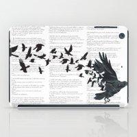 Vintage Style Print with Poem Text Edgar Alan Poe: Edgar Alan Crow iPad Case