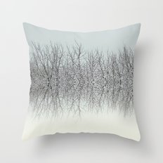 Winter tree tops Throw Pillow