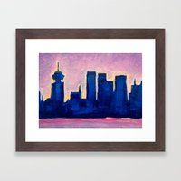 Sundown Vancouver Framed Art Print