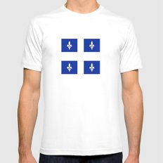 Flag of Quebec SMALL White Mens Fitted Tee